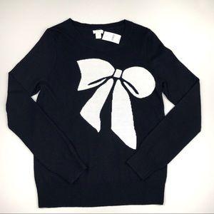 J. Crew Factory Bow Intarsia Knit Sweater
